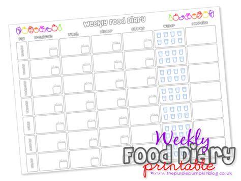 free printable food diary uk weekly food diary free printable 187 the purple pumpkin blog