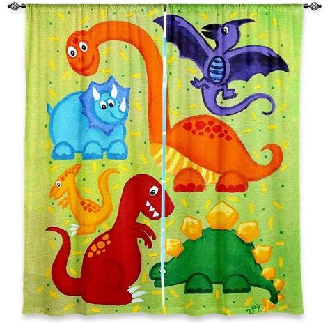 dinosaurs curtains dianoche lined window curtains by njoyart dinosaur jumble