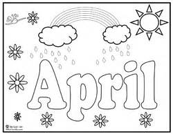 april coloring pages index of activities printables seasons 2 pics