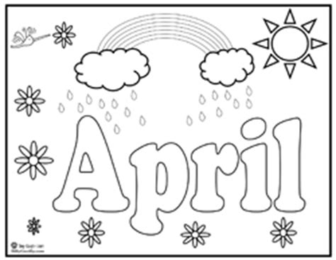 Index Of Activities Printables Seasons 2 Pics April Coloring Pages