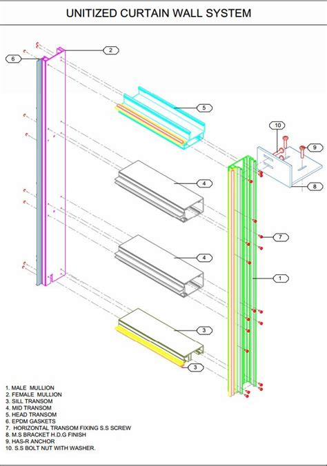 curtain wall assembly curtain wall unitized system diamond glass