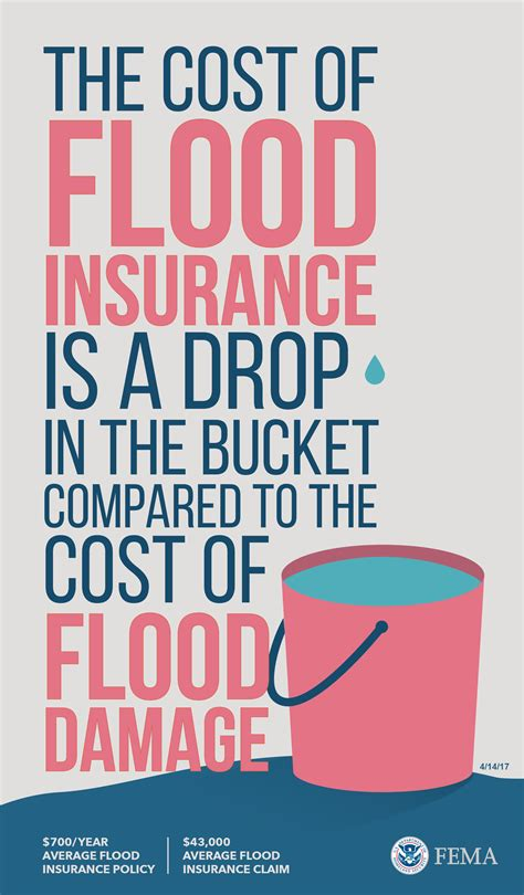 Graphic: Cost of Flood Insurance vs. Flood Damage (pink