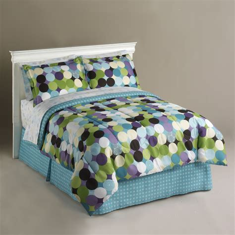 Kmart Bedding Set Essential Home Optic Dot Complete Bed Set Home Bed Bath Bedding Comforters