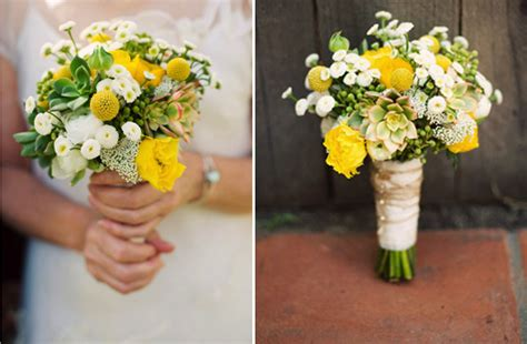 Wedding Bouquet Yellow Green by White Yellow Green Bridal Bouquet Summer Wedding