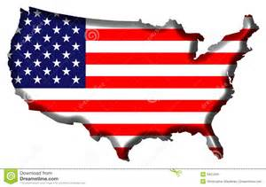 united states map with state flags united states of america map stock images image 3421264