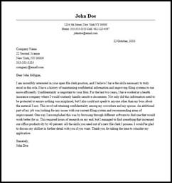 Professional File Clerk Cover Letter Sample & Writing