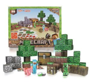Minecraft Overworld Deluxe Papercraft Pack - overworld deluxe minecraft papercraft kit 93pc city