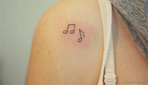 small music note tattoos 35 musical note designs on shoulder