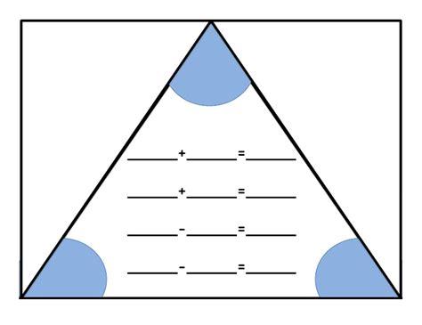 fact family triangle pdf classroom ideas