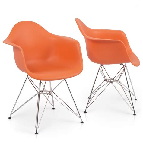 armchair style dining chairs set of 2 modern eames style mid century retro dsw dining