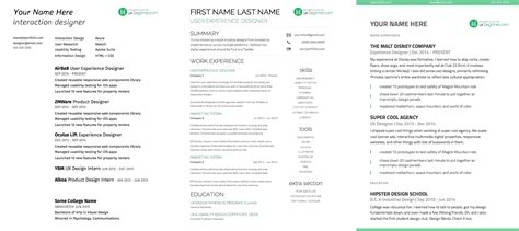 cv design ux complete guide to ux resumes 3 free templates ux beginner