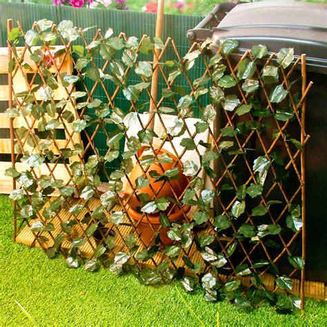 Expanding Trellis Expandable Trellis With Leaves Extends To 2m Garden
