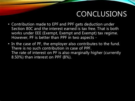 interest on ppf is exempt under which section epf act 1952