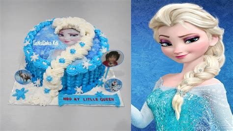 Topper Cake Ultah by Frozen Elsa Cake Topper Edible Icing How To Make Birthday