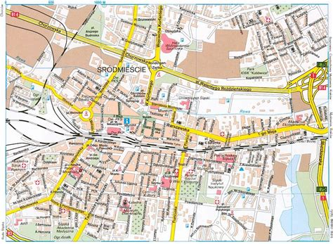 katowice map large katowice maps for free and print high