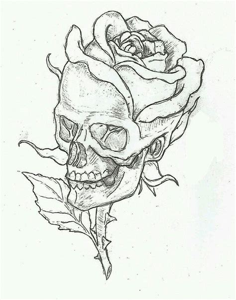 rose and skull tattoo drawings best 25 skull tattoos ideas on mandala