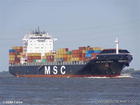 msc vessel schedule to msc monterey type of ship cargo ship callsign d5bl4
