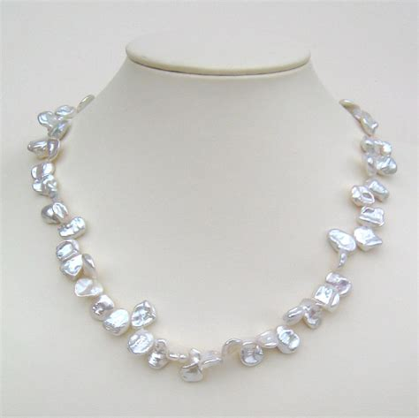 keshi pearl keshi pearl necklace with silver magnetic clasp keshi