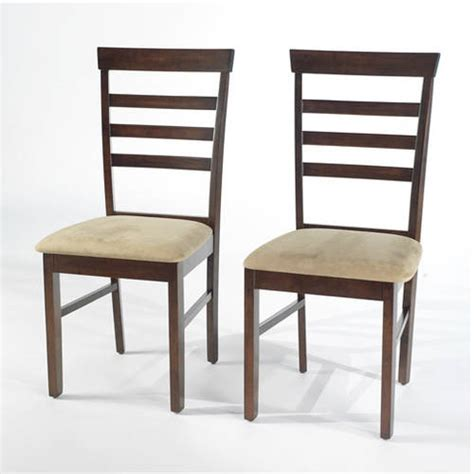 walmart dining room chairs havana dining chairs set of 2 espresso walmart com