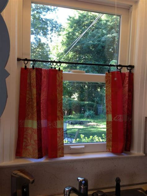 Tension Rods For Windows Ideas Curtains Using Dinner Napkins From Home Goods And Curtain And Tension Rod From