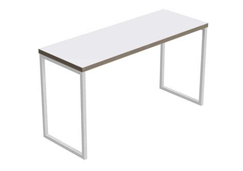 White Table block steel white table large cotswold business interiors