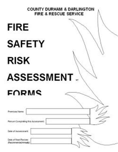 risk assessment template residential guidance documents county durham and darlington and