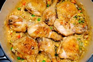 and chicken one pot stovetop chicken and yellow rice biscuits n