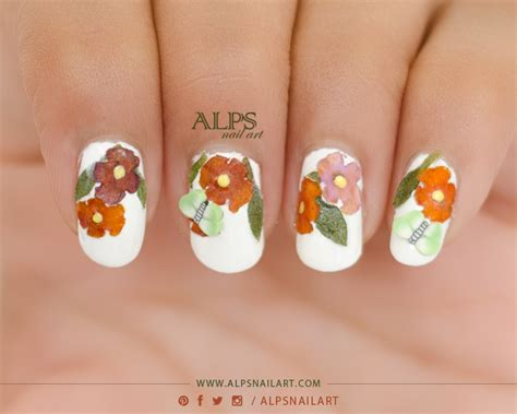tutorial nail art flower diy real dry flower nail art tutorial by alpsnailart