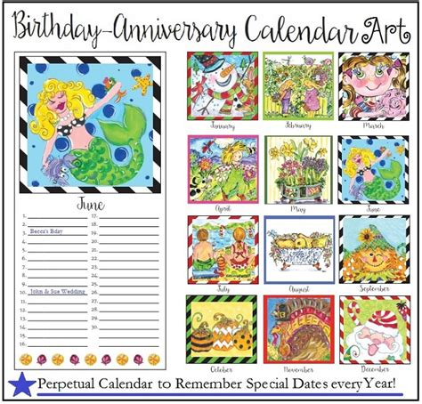 Anniversary Calendar Birthday Anniversary Calendar Calendar Template 2016