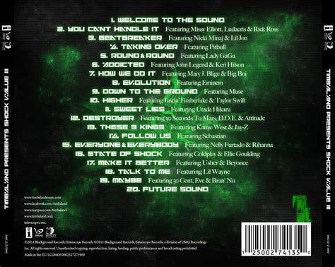 back of cd wright illustrator cd project timbaland shock