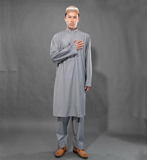 islamic clothing for men wholesale gray muslim exclusive islamic clothing set thobe