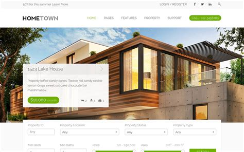 House Design Free Website 30 Best Real Estate Themes 2017 Athemes