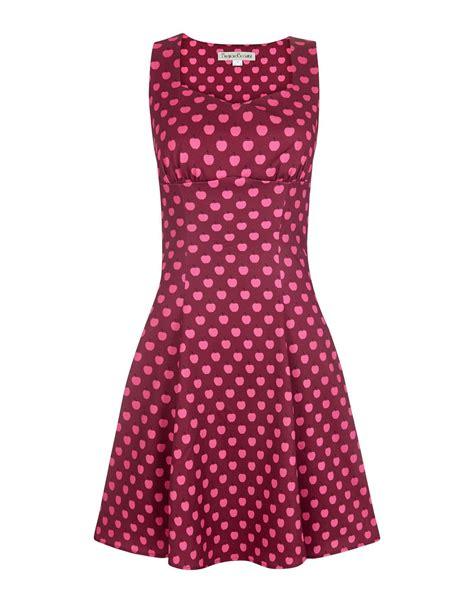 Id Print Dress bright beautiful elma retro apple print dress in