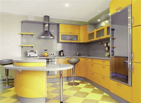 cuisine proven軋le jaune d 233 co cuisine jaune et gris exemples d am 233 nagements