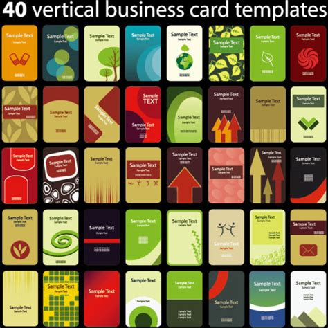 ai vertical business card template set of vertical business card templates vector free vector