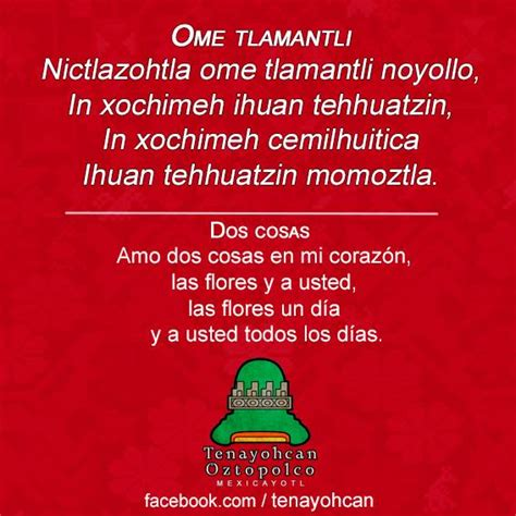 poema en nahuatl 161 nimitztlazohtla frases de amor en n 225 huatl para los