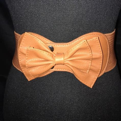 Faux Leather Bow Belt 99 accessories brown belt with faux leather bow