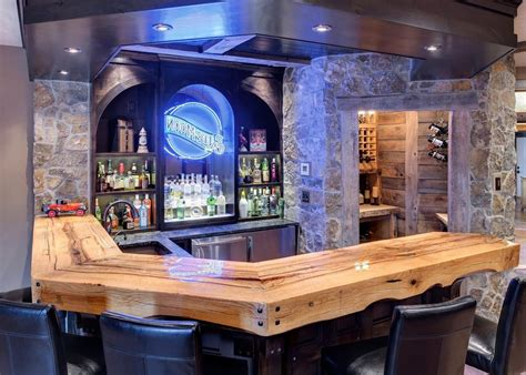rustic bar designs home bar traditional with wooden bar