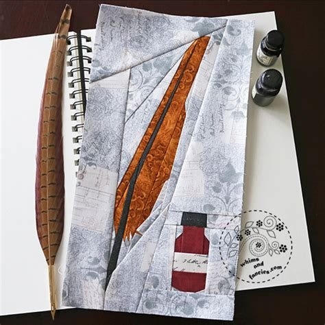 quill sketchbook pattern whims and fancies
