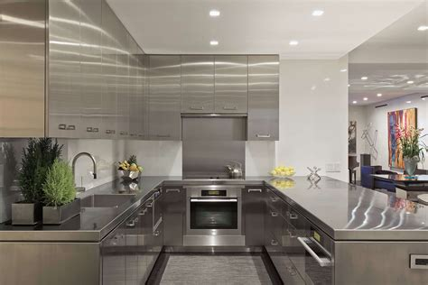 Kitchen Design L Shape by Stainless Steel Kitchen Cabinets Steelkitchen
