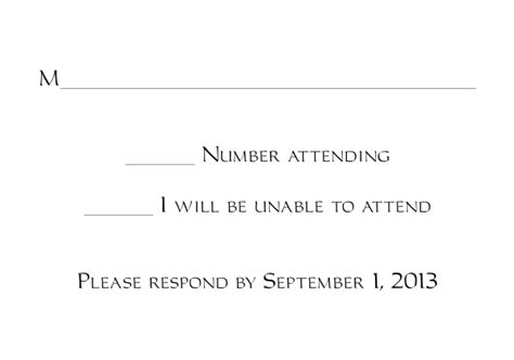 rsvp reply template response card templates 1 and 2