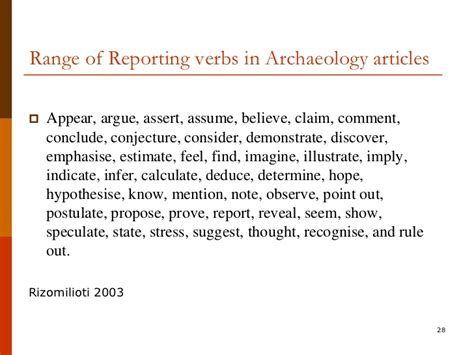 how to write an arcaheological report