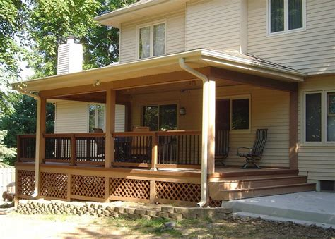 porch deck how to convert a deck into a covered porch homeyou