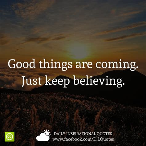 Things You Keep Just In by Things Are Coming Just Keep Believing