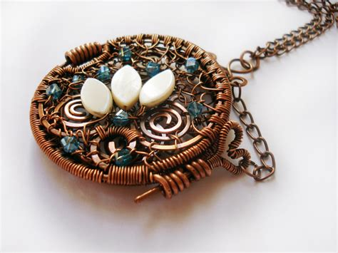 Pendant Handmade - wire wrapping jewelry pendant handmade with copper wire
