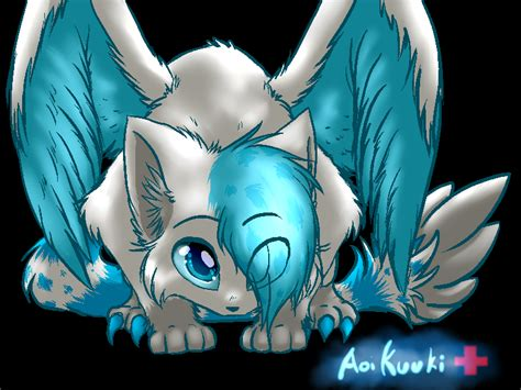cute anime cat with wings drawings winged medic by spottedfire cat on deviantart