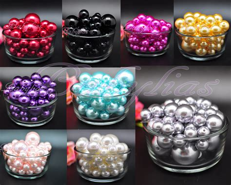 vase filler pearls pebbles wedding decorative