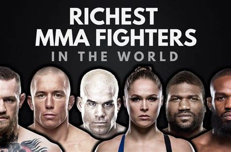 the top 20 richest mma fighters in the world 2019 wealthy gorilla