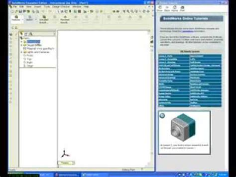 solidworks tutorial lesson 1 solidworks tutorials lesson 1 part 1 youtube