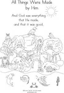 creation coloring pages free coloring pages of day 6 creation